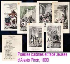 Curiosa Poésies badines et facétieuses Alexis Piron