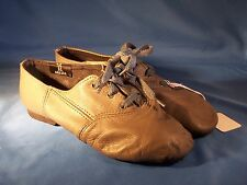 Dance Jazz Shoes Sansha Colorful Olive Green Tie Up Size 3M Great for Halloween
