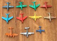 VTG Lot Plastic Airplanes Planes Jet Toy Navy USAF Fighter Jet Aircraft