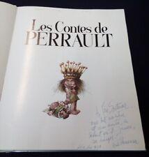 Contes de Perault illustré par Hausman avec envoi autographe 1979
