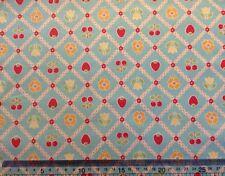 Riley Blake Bake Sale Designer Fabric C3432 Blue 100% Cotton fat quarter + more