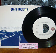 *<* CCR's JOHN FOGERTY M- 45/PIC SLV/JUKESTRIP: OLD MAN DOWN THE ROAD/BIG TRAIN!