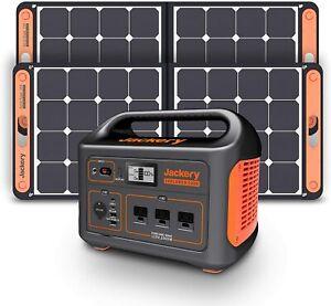 1000W Jackery Portable Power Station Explorer Solar Generator 2 SolarSaga Panels
