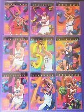 MICHAEL JORDAN 1995-96 HOOPS NUMBER CRUNCHERS Rare Insert #1 + 8 more, Bulls