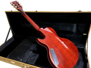 NEW 6 STRING FLAME MAPLE LITTLE SISTER STYLE CUTOUT ELECTRIC GUITAR + TWEED CASE