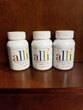 3 bottles of Alli Orlistat. 120 capsules each. 60 mg capsules. New. Unopened.
