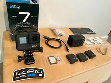 GoPro Hero 7 Black with 64GB card & Adapter, 3 batteries, Dual charger