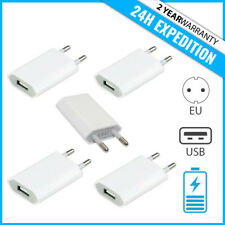 FOR IPHONE SAMSUNG USB MURAL CHARGEUR ADAPTER WALL CHARGER CHARGING PLUG LOT