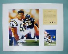 JUNIOR SEAU San Diego Chargers 1995 NFL Football 11x14 Lithograph Print (scare)