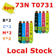 8x 73N T0731 731 Generic ink Cartridge for Epson TX110 200 210 300 400 409 410