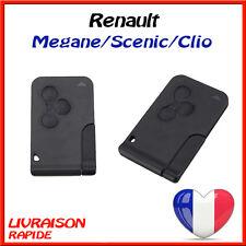 CARTE DE CLE RENAULT MEGANE 2 / SCENIC 2 / CLIO 3 // 3 BOUTONS LAME VIERGE