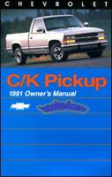 OWNERS MANUAL 1991 CHEVROLET C/K TRUCK BOOK PICKUP SILVERADO HANDBOOK GUIDE CK