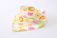 Cotton Infant Baby Bibs Feeding Saliva Towel Triangle Dribble Bandana Flower