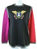 ROCCOBAROCCO Womens Crew Neck Jumper Sweater IT 46 Large Black Wool  KC10