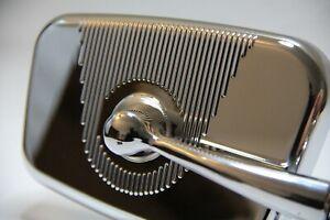 Classique Fiat 500 Chromé Miroir 'Rectangulaire' Modèle Gauche Voiture Tout Neuf