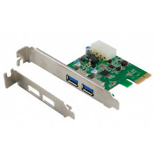 2-Port PCI-E PCI-Express Adapter Controller Card 4-Pin USB 3.0 Port Low Profile