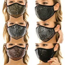 Triple Layer Novelty Sequin Face Mask*Made In Usa* free shipping
