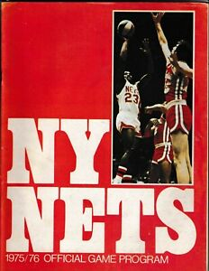 1975-76 New York Nets Official Game Program Vs San Antonio Spurs