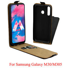 Leather Flip Case Slim Cover Up Down Holster Pouch for Samsung Galaxy M30 M305