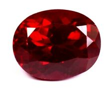 Burma's 10.80Ct Natural Blood Red Ruby Oval Shape Loose Gemstone Certified A1277
