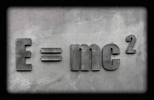 Enmarcado impresión-Albert Einstein E = MC2 piedra efecto (imagen Arte Cartel física)