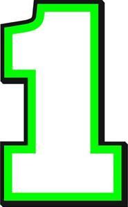 NEW FOR 2021 - #1 Kurt Busch Racing Sticker Decal - SM thru XL - various colors