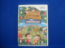 wii ANIMAL CROSSING Lets Go To The City Nintendo PAL