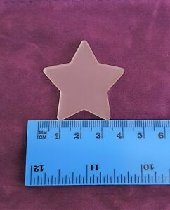 Frosted 40mm Acrylic Shapes, PACK OF 10, Round, Heart, Star, Square, 3mm Thick
