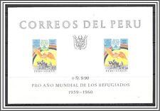 Peru #C164a Airmail World Refugee Year S/S MNH
