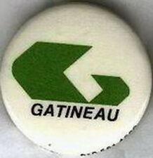 GATINEAU QUEBEC CANADA CITY LOGO PIN BUTTON
