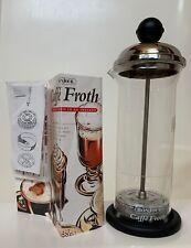 NEW Bonjour Caffe Froth Glass Beaker Black Knob, Base, Instructions, Receipts