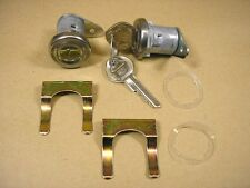 1955 1957 Pontiac Door Lock Set Flat Pawl Original Style, C3736842RS