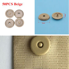 50x Universal Clip Seat Safety Belt Stopper Buckle Button Fastener Beige Plastic