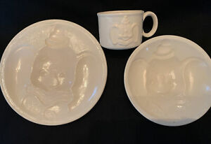 Dumbo Baby Dinner Plate, Bowl, & Cup ceramic bisque ready to paint