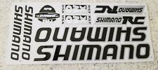 SHIMANO vinyl decals bike stickers frame replacement set Black