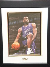FLEER VINCE CARTER NBA 8 x 10 REAL OIL PAINTING WOODEN FRAME JUMP