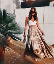 ZARA NWT Long Maxi Bloggers Skirt Ruffle Bohemian Hippie XS S Sold Out $89