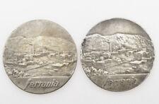 Ferrania, coppia (2) medaglie argento massiccio 1960/62 marito e moglie
