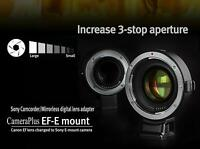 UK EF-E Autofocus Focal Reducer adapter for for Canon EOS EF on Sony E-mount