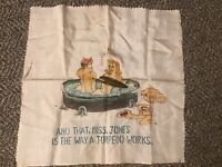 WWII Risqué Girlie Handkerchief Soldier & Girl In Hot Tub How A Torpedo Works