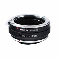 Sony Alpha Minolta AF A Lens to Canon EOS M EF-M Mount Mirrorless Camera Adapter