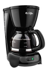 New Black Mr. Coffee 4 Cup Switch Coffee Maker Countertop Brewing Drip Cups Mug