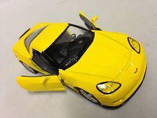 """2007 Chevrolet Corvette Z06 DieCast 5"""" Pull Back 1:36 Scale Kinsmart Toys Yellow"""