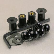 SCREEN BOLT KIT HONDA XL600V TRANSALP '94-'99 4 BOLT BLACK ALUMINIUM