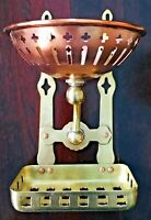 Antique Wall Mount Copper & Brass Wall Soap and Sponge Dish Holder