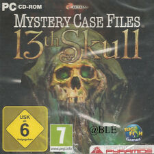 CD-ROM + Mystery Case Files +13th Skull + Rätsel + Wimmelbild + Win 7