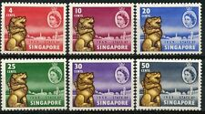 Singapore stamps - 1959 New Constitution 6v set Mounted Mint Queen and Lions