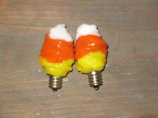 5 Watt Primitive Candy Corn Silicone Bulb set of 2  /  Country Dip
