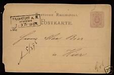 Germany Early 5pf Stationery Card Frankfurt #251