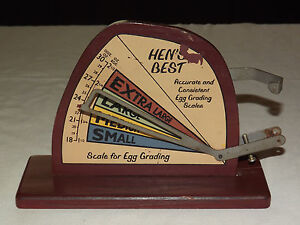 VINTAGE KITCHEN DECORATION SCALE FOR EGG GRADING